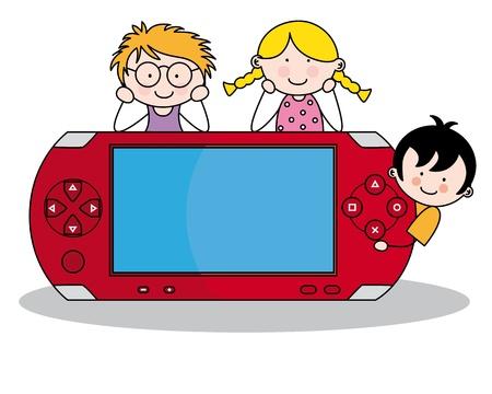 Dzieci z konsolą