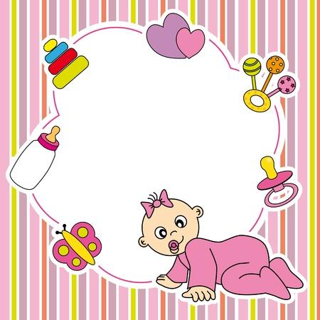 Frame baby girl Stock Vector - 19729268