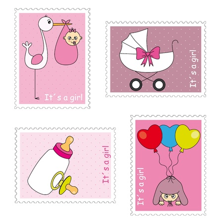 baby girl: Stamps baby girl