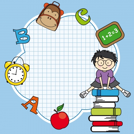 school baby: Education and school icon set. Space for text