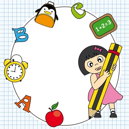 Education and school icon set  Space for text or photo Stock Vector - 20330018