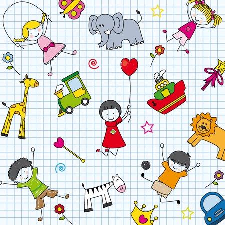 paintings: background children Illustration
