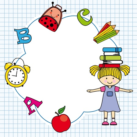 baby: Education and school icon set  Space for text or photo