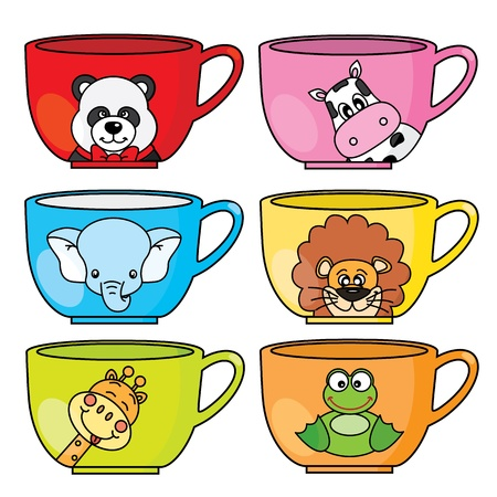 cup animals Vector