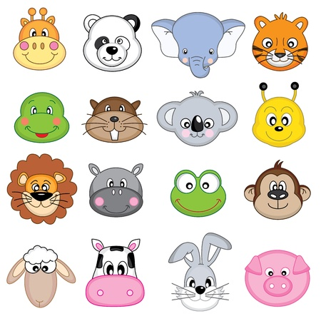 animales zoologico: Animal Faces
