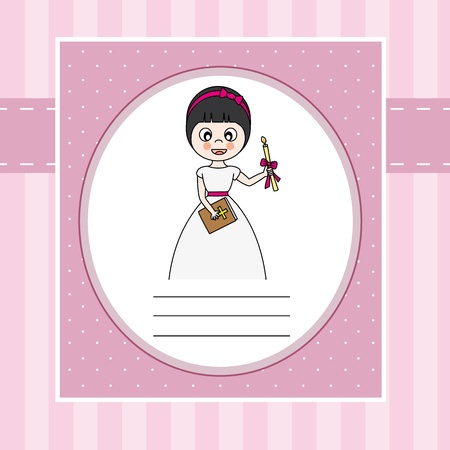 First Communion  Girl Stock Vector - 22552564