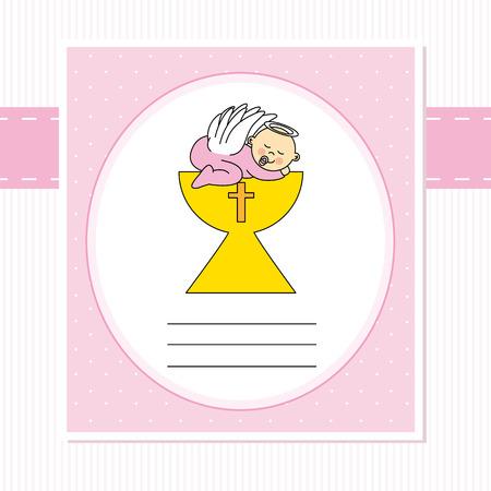 bautizo: Beb� en la tarjeta de bautizo santo grial
