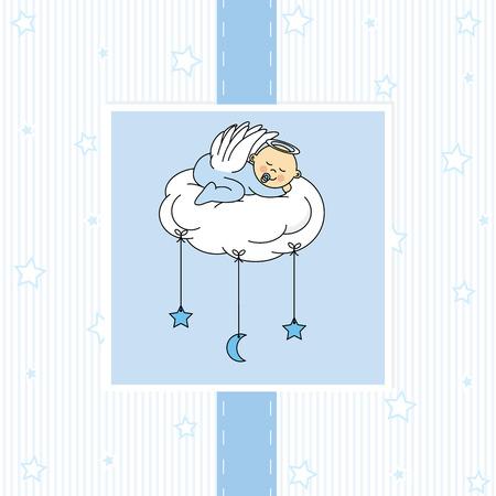 Beb� en el grial Primera tarjeta de la comuni�n santa
