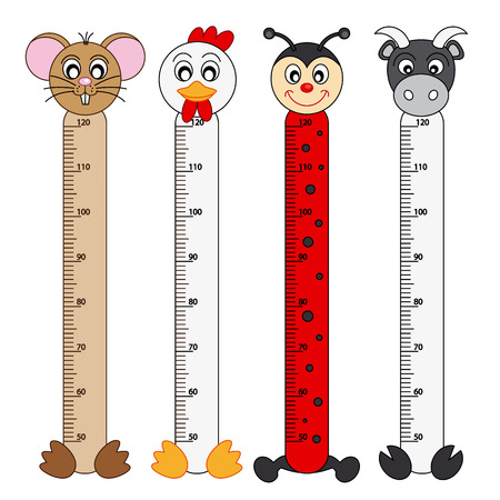 Bumper children meter wall  Animals Stickers Vector