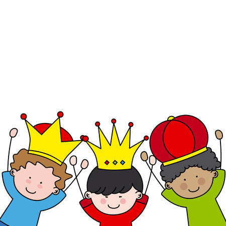 three kings: letter to the Three Kings Illustration