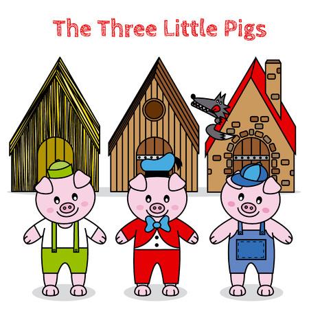 three animals: I tre porcellini e le grandi bambini cattivi lupo storia