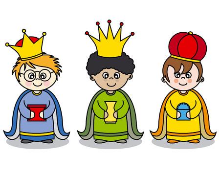Drie koningen vector