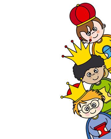 trois: carte trois rois de vecteur Illustration
