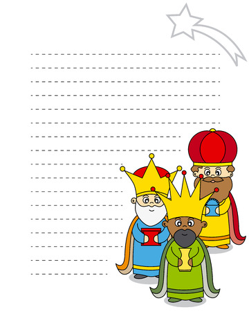 wise men: Letter to the Three Kings  Illustration