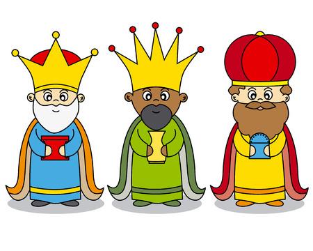 reyes magos: tres reyes vector