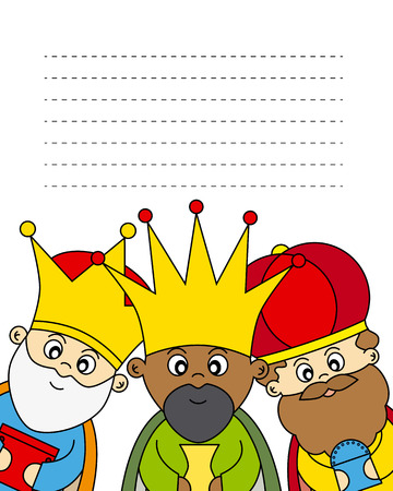 three wise kings: Letter to the Three Kings  Illustration