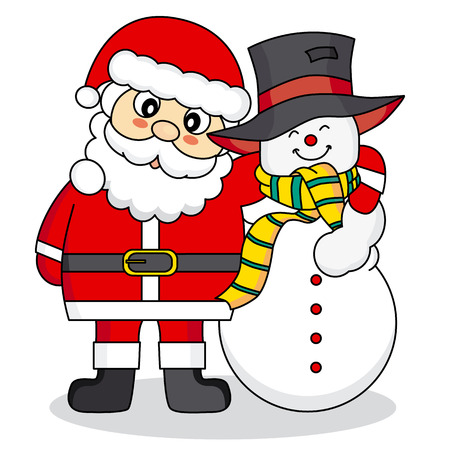 Claus Snowman Santa Claus And Snowman
