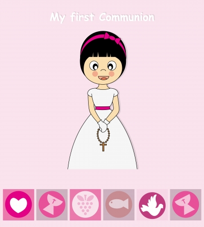 holy communion invitations: First Communion Invitation Card  Girl