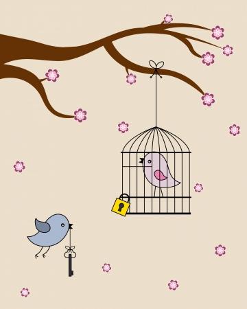 Card san Valentin  birds in love Stock Vector - 24936997