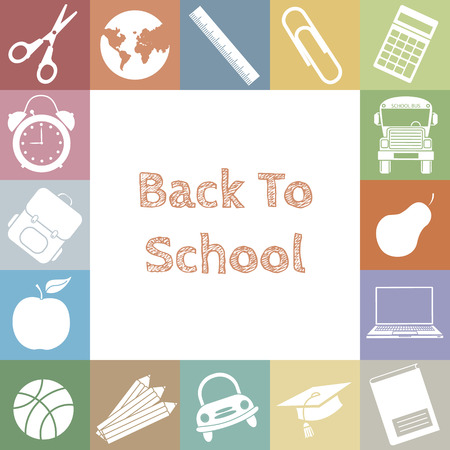 school icons  space for text Vector