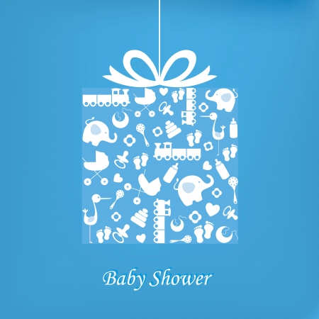 baby boy birth: Baby boy birth card  Illustration