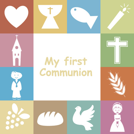 holy family: First Communion Invitation Card