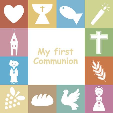 religion catholique: Premi�re carte d'invitation de communion