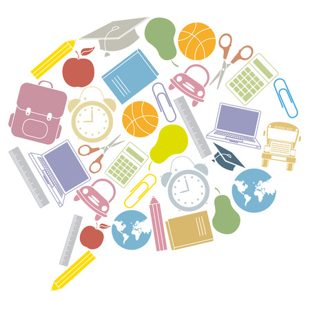 school icons   bubble talk  Vector