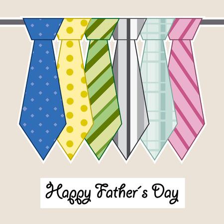 stropdas: gelukkige vaders dag banden