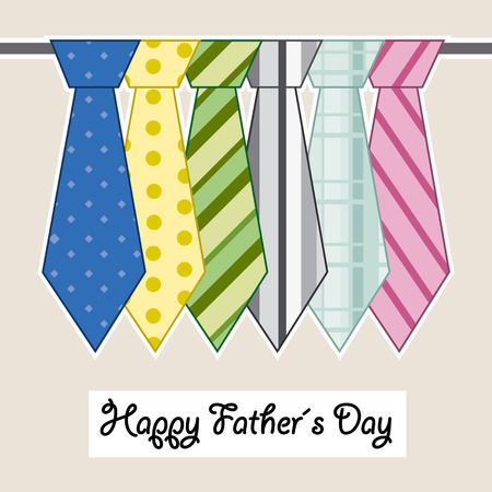 celebration card: happy fathers day ties