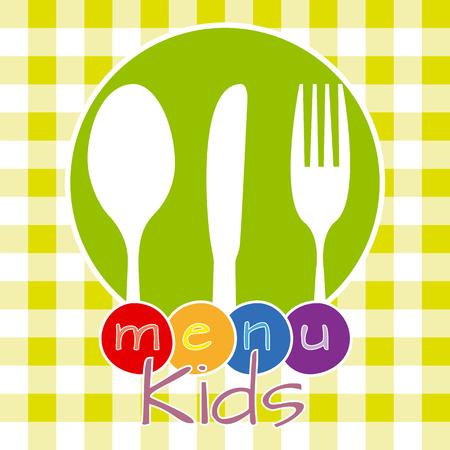 menu kids  Vector