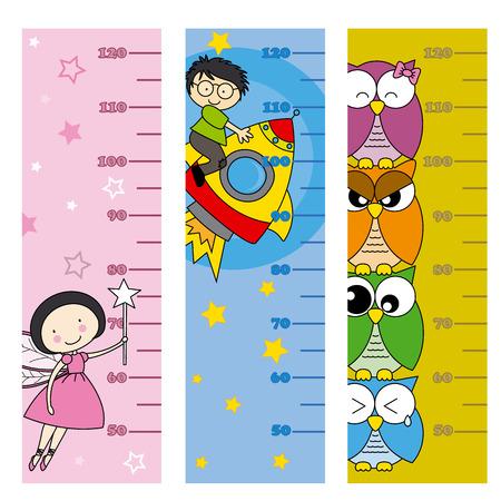 metro medir: metros altura de los niños