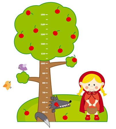 Bumper children meter wall  Red Riding Hood and Wolf