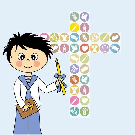 Boy First Communion  Ilustracja