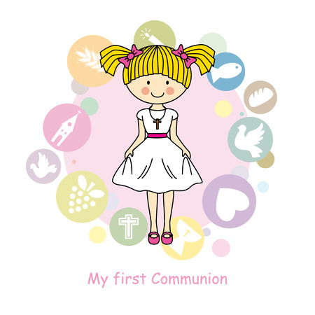 holy grail: Girl First Communion
