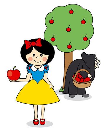 brujas caricatura: tarjeta de gente de historia de dibujos animados