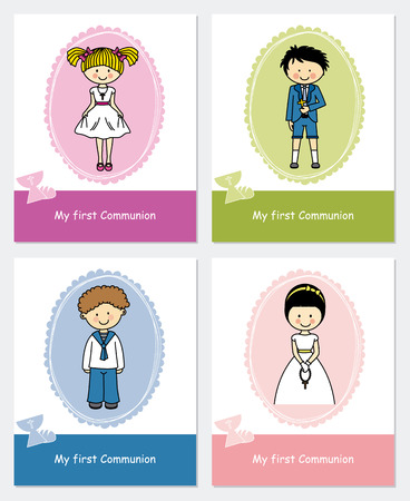 holy grail: set first communion Illustration