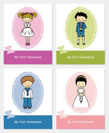 set first communion Illustration