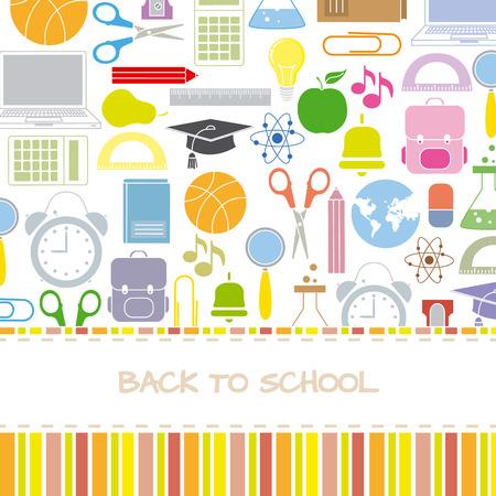 Background school icons Vector