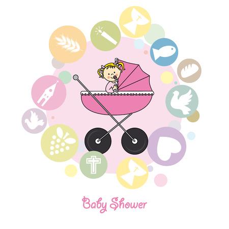 kruzifix: Baby-Taufe Einladungskarte