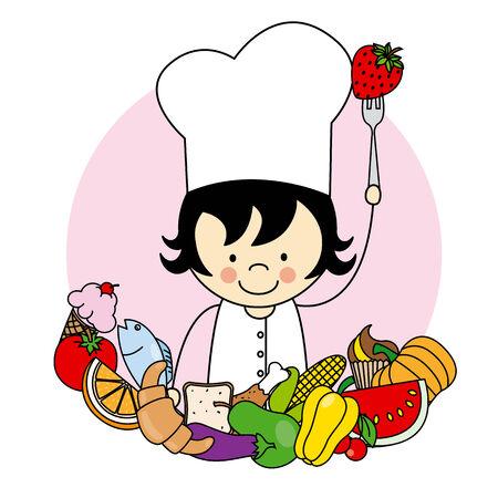 alimentacion sana: chica con la comida sana
