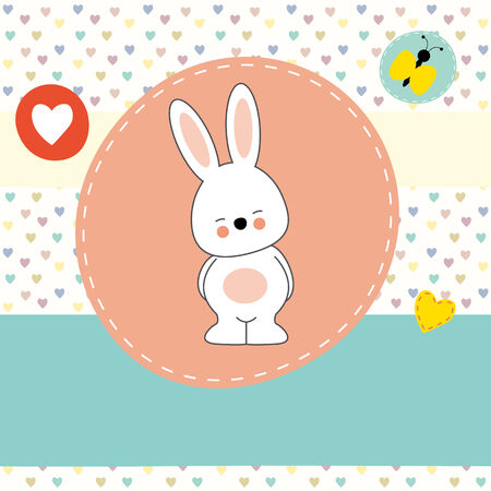 bunny rabbit: cute bunny, greeting card
