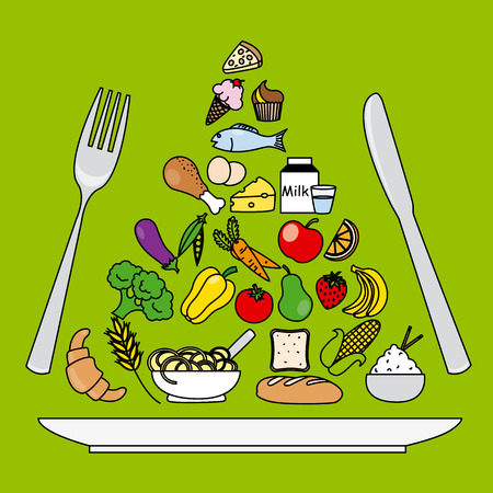pyramide alimentaire: pyramide alimentaire Illustration