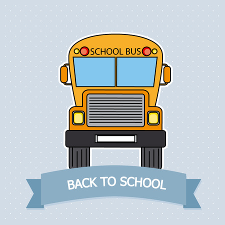 transporte escolar: Tarjeta a autobús escolar de la escuela