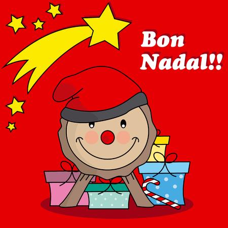 nadal: Caga tio  Traditional Christmas Celebration in catalunya