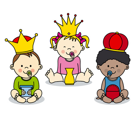 melchior: three kings vector card