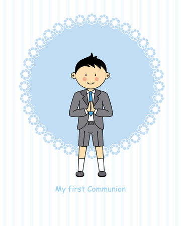 confirmation: Boy First Communion Illustration