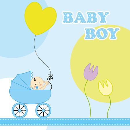 Baby Boy Birthday Card Royalty Free Cliparts Vectors And Stock