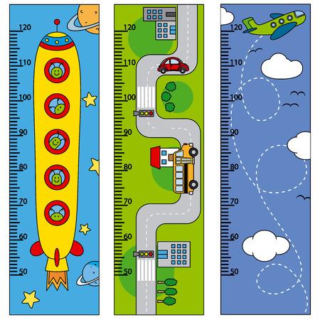Bumper children meter wall Vector