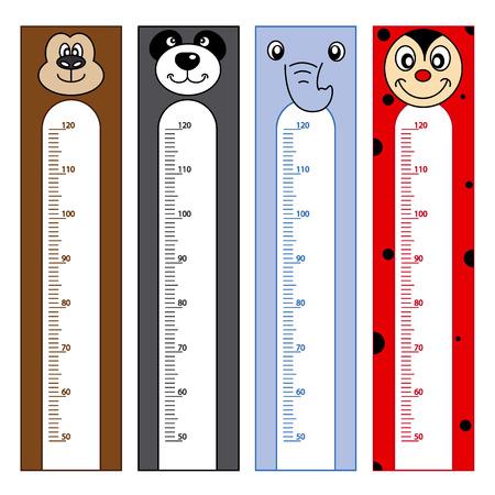 children s book: Bumper children meter wall. Animals Stickers Illustration